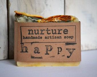 happy lemongrass & sweet orange handmade soap