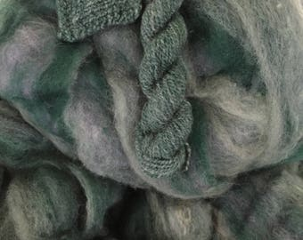 The Mighty Mack - appx. 8 ounces - Wool and Mohair Roving