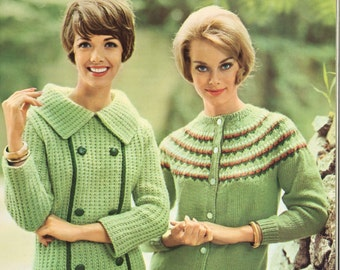 Knitting Jumper Pattern : Daffodil ivy u s cardigan sweater patterns vintage