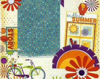 Endless Summer - Premade Scrapbook Page