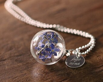 Forget me not-925 necklace forget · Personalized Gifts ·  k425
