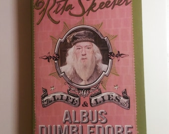 Harry Potter The Life & Lies of Albus Dumbledore Dust Jacket Cover Art Digital Download Rita Seeters Book from the Deathly Hallows