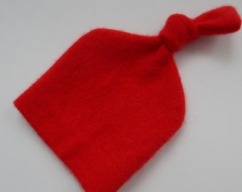 Recycled Red Cashmere Baby Hat - 0-3 months