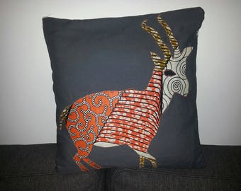 Gazelle in wax around the pillow cover