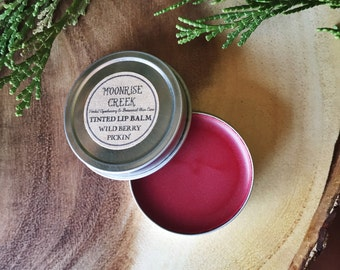 Tinted Herbal Lip Balm • Wild Berry Pickin' • Sweet Orange + Tangerine
