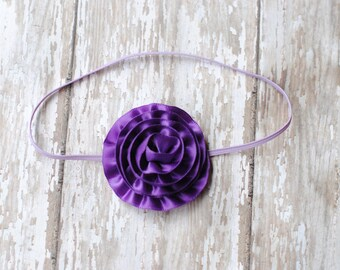 Baby headbands Purple Hydrangea Flower Headband Photo Prop Vintage Prop Lavender Headband Newborn photography headband