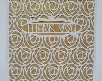 A6 Bespoke, Birthday card, Thank You Card, personalised, Handmade, customisable, beautiful, Card for girlfriend, boyfriend, husband, wife