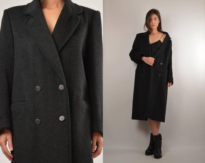Vintage Gray Wool Winter Coat