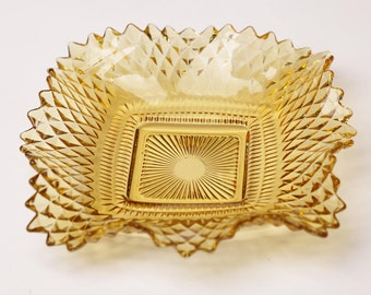Golden Yellow Mid-Century Candy Trinket Dish