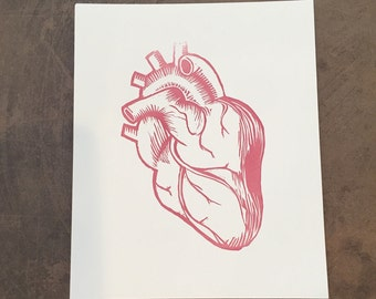 As A Woman I Have A Heart Letterpress Heart Print