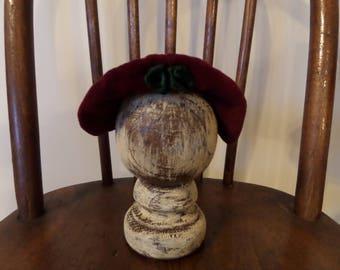 Vintage Doll Hat Velvet Elizabethan Style
