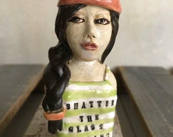 "New- ""Shatter the Glass Ceiling"" figurine"