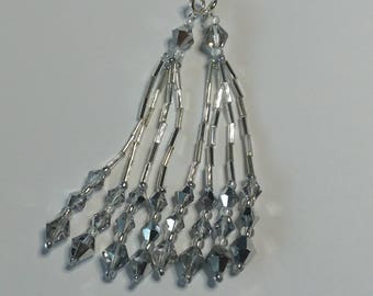 Silver Beaded Nipple Tassels for Burlesque Pasties