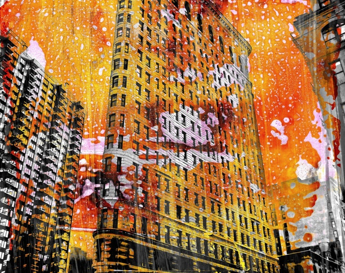 NEWYORK COLOR V by Sven Pfrommer - 100x80cm Artwork is ready to hang