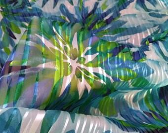 "burnout  silk chiffon fabric 53"" wide sheer DIY sewing fabric on sale"