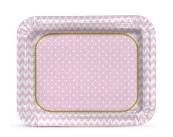 Cake / Sweets Rectangular Tray - 2 Pack Cardboard - Party Supplies
