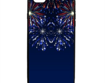 Festive Patriotic 4th of July Fireworks Phone Case Samsung Galaxy S5 S6 S7 S8 S9 Note Edge iPhone 4 4S 5 5S 5C 6 6S 7 7S 8 8S X SE Plus