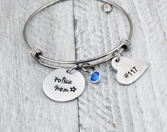Police Mom Bracelet for Women - Police Officer Gifts for Mom - Mothers Day Gift for Women - Police Wife Jewelry - Police Mom Jewelry