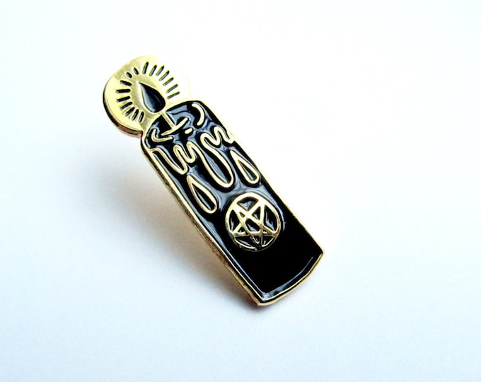 Black Candle Enamel Pin