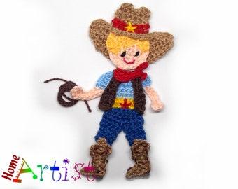 Crochet Applique Cowboy Sheriff