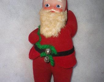 Vintage Clare Original Santa Claus, Hand Painted Santa Face, Corduroy Santa, Corduroy Santa Claus, Santa, Santa Claus, Clare Santa Claus