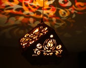 Flame Damask LED wooden p...