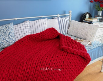 Luxurious 100% Merino Wool Super Chunky Blanket