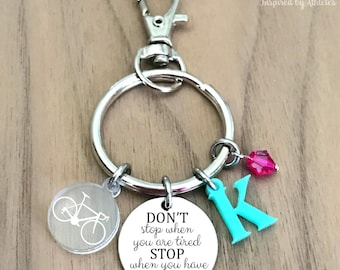 Cycling Keychain, Bike Keychain, Cyclist Keychain, Womens Cycling Gift, Cyclist Gift, Bicycle Gifts for Women, Bicycle Keychain, Keyring