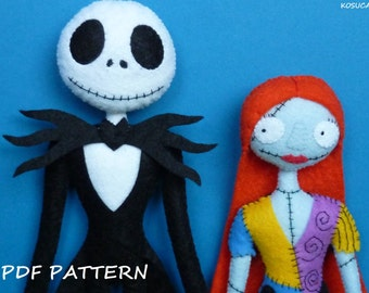 PDF pattern to make a fel Jack and Sally.