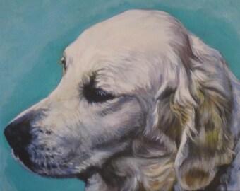 Golden Retriever dog portrait CANVAS print of LA Shepard painting 11x14 dog art