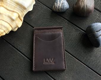 Money clip wallet Minimalist wallet Slim wallet Personalized