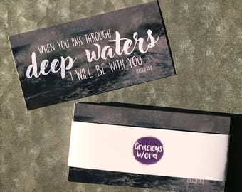 """Set of 25 - When You Pass Through Deep Waters 