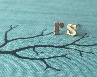 Initial Earrings, Gold Letter Earrings, Monogram Earrings, Initial Stud Earrings, Initial Studs, Alphabet Studs, Tiny Stud Earrings