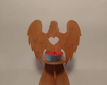 Angel Candle Holder, Wood candle holder, Christmas Ornament, Christmas Tealight Holder, Christmas Gift