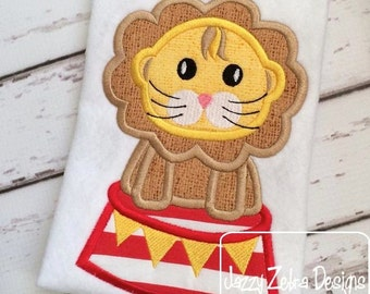 Circus Lion Applique embroidery Design - circus Applique Design - lion Applique Design - carnival Applique Design