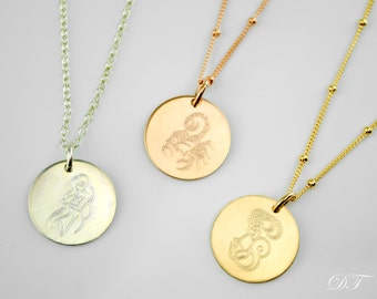 Astrology Zodiac necklace, Mothers day gift, Birthday necklace, libra, virgo, scorpio, sagittarius Capricorn aquarius, pisces aries necklace