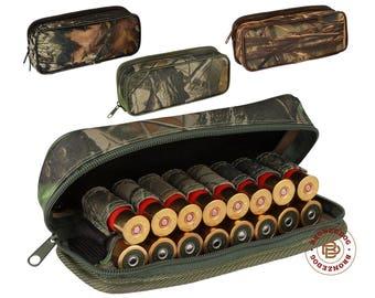Hunting Shotgun Shell Cartridge Holder 12/16 Ga Ammo Pouch Case