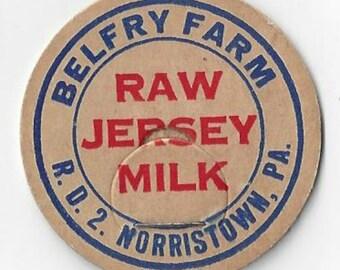 Belfry Farm Vintage Raw Jersey Milk Cap, C1940s