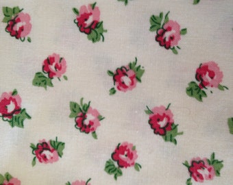 Cotton Fabric, Roses, 100% Cotton, by the  half yard