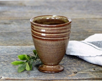 Gobelet – Pottery wine gobelet, Wine glass, Tumbler, Ceramic, Stoneware, Handmade, Wheel thrown