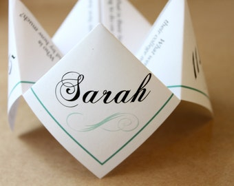 Wedding Reception Program Cootie Catcher (PDF - PRINTABLE)