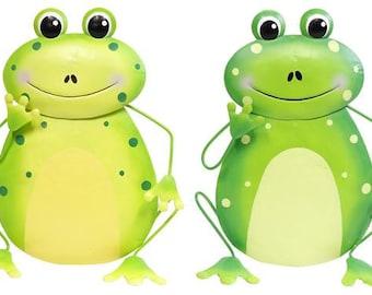 "11.25""H Metal Frog Wreath Enhancement's/Frog Wall Decor-Set of 2/Wreath Supplies/Frog Decor/MM908899"