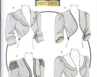 B5232 Butterick Misses Victorian Jacket Shrug Historical Costume Sewing Pattern Making History Historical Size 6, 8, 10 and 12 UNCUT