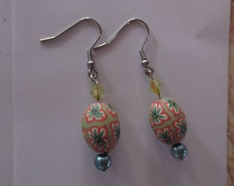 olive orange earrings