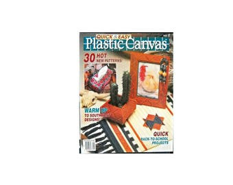 Plastic Canvas Quick & Easy 1990 NO. 7 and No. 9