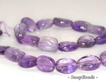 17x12-14x11mm Amethyst Gemstone Nugget Loose Beads 7.5 inch Half Strand (90144108-B18-532)
