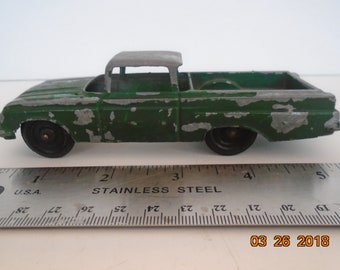 Tootsietoy, 1960 Chevrolet El Camino, Green. Made in Chicago USA in 1961.