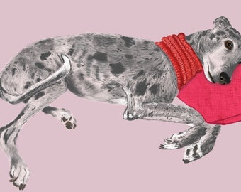 Custom Pet Portrait Illustration Drawing Print