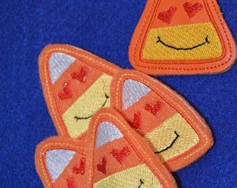 Love Emoji  Candy Corn Set Key Fob and Pencil Topper