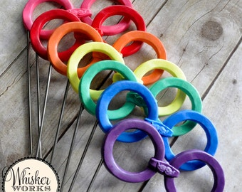 Round Glasses on a Stick - Plastic Photo Booth Prop - Choose Your Color